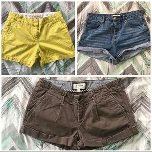 3 pairs of size 6 shorts